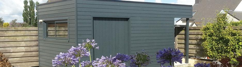 Abris De Jardin : Fabrication Et Pose Du0027abris Jardin Bois En Bretagne Côtes  Du0027Armor 22