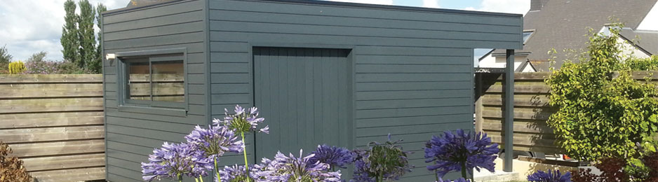 Abris de jardin : fabrication et pose d\'abris jardin bois en ...