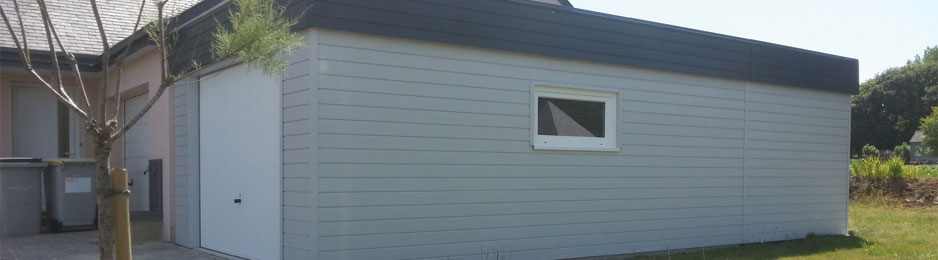 Garages fabrication et pose de garages en bois sur for Garage bois en kit sur mesure